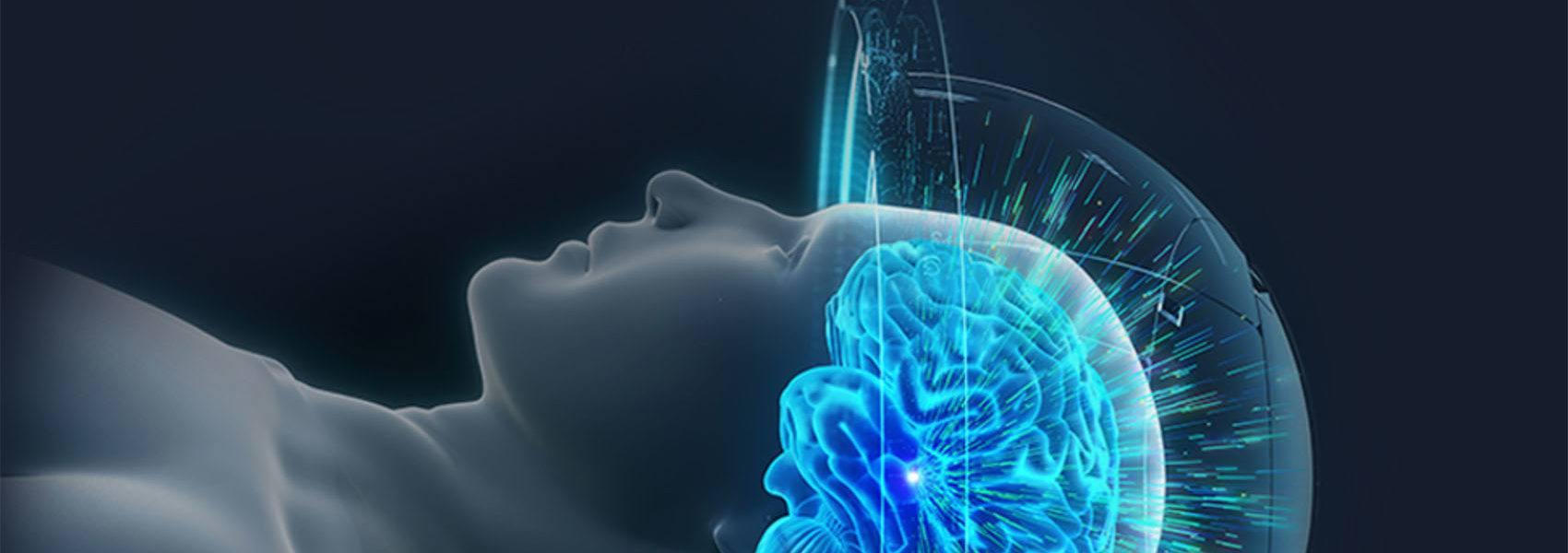 Rendering of patient receiving MRI treatment